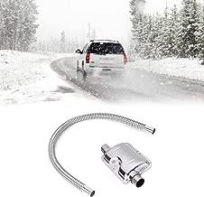 Exhaust Muffler 120cm,-120cm Exhaust Muffler Silencer Stainless Steel Pipe Silencer Heater Kit Car -Heater Accessories