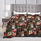 Fomente Stephen King Book Cover Collage Ultra Soft Micro Fleece Blanket 80'' x60