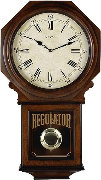 Bulova C3543 Ashford Chiming Clock Walnut
