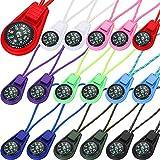18 Piezas Mini Brújulas de Supervivencia Multicolor de Cámping al Aire Libre Mini Brújula Llena de Líquido en Cable para Kits de Supervivencia de Emergencia Correa de Reloj Paracord Pulsera Collar
