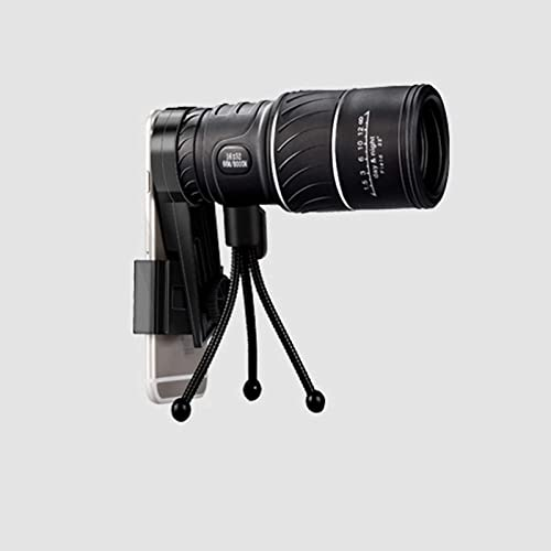 OPTIMISTIC 16x52 High Definition Monocular Telescope with Phone Holder and Tripod, Waterproof Monocular Low Night Vision,BAK4 Prism Scope for Wildlife Bird Watching Hunting