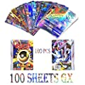 JIM - 100 Piezas Pokemon Cartas,Tarjetas de Pokemon,Pokemon Trading Cards,Cartas Pokémon Game Battle Card,100 Sheets Full GX por JIM