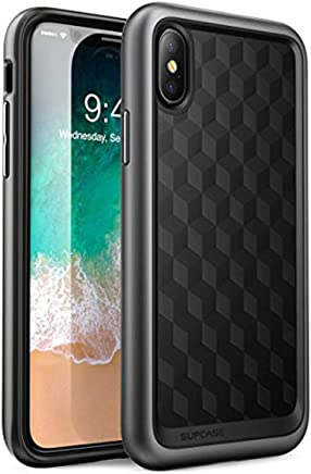 SUPCASE iPhone X, iPhone XS Case, Unicorn Beetle Style Premium Hybrid Protective Clear Case for iPhone X 2017/ iPhone XS 2018 Release (MetallicGray)