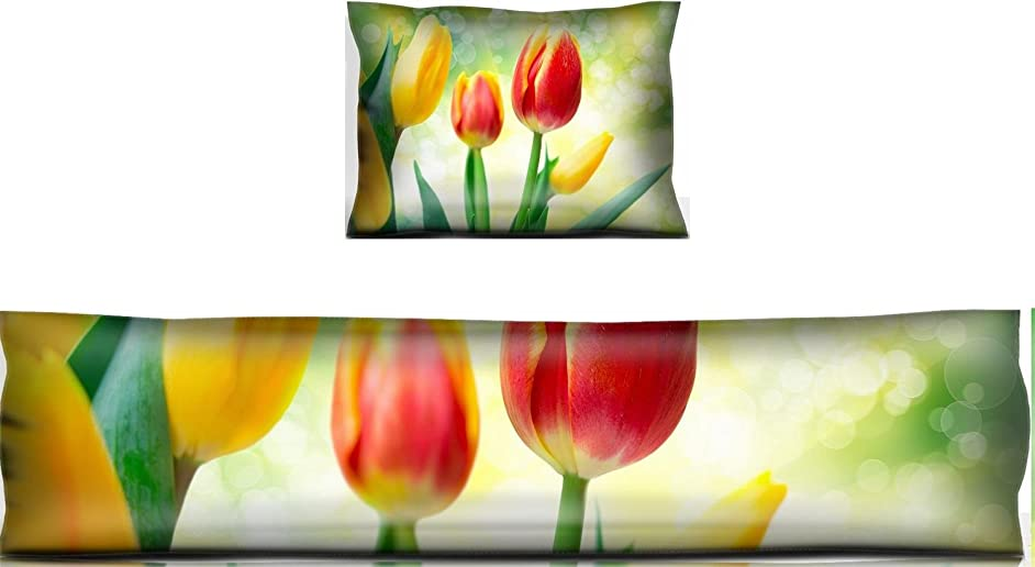Liili Mouse Wrist Rest and Keyboard Pad Set, 2pc Wrist Support IMAGE ID: 27301986 tulip flowers close up
