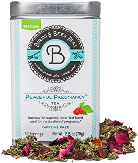 Birds & Bees Teas - Peaceful Pregnancy Tea, Red Raspberry Leaf Tea That is a Nourishing and Safe Prenatal Tea for Your Fir...