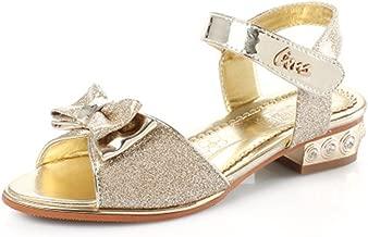 MIKA HOM Kids Girls Sequin Sandals Princess Crystal High Heels Shoes