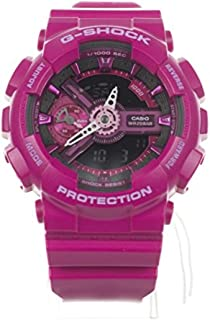 G-Shock Pink and Black Dial Resin Quartz Ladies Watch GMAS110MP-4A3