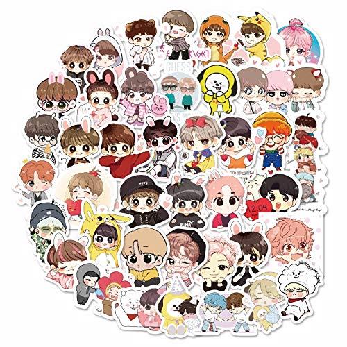 NANANA Korean Set Bangtan Boys Kawaii Stickers Hand Account Sticker Pack Girl Stickers Cartoon Stickers 100 Pcs