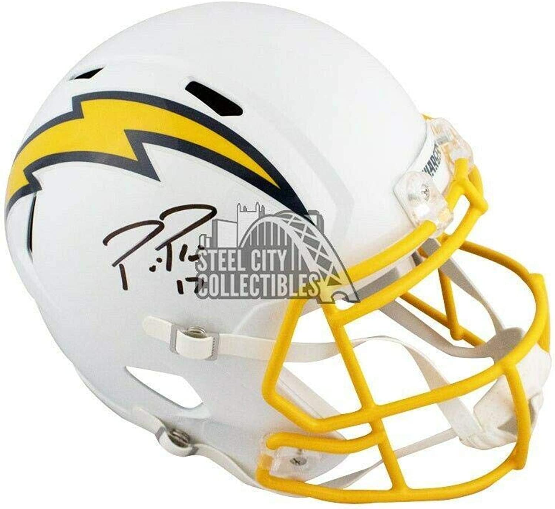 Autographed Philip Rivers Helmet  color Rush Full Size BAS COA  Beckett Authentication  Autographed NFL Helmets
