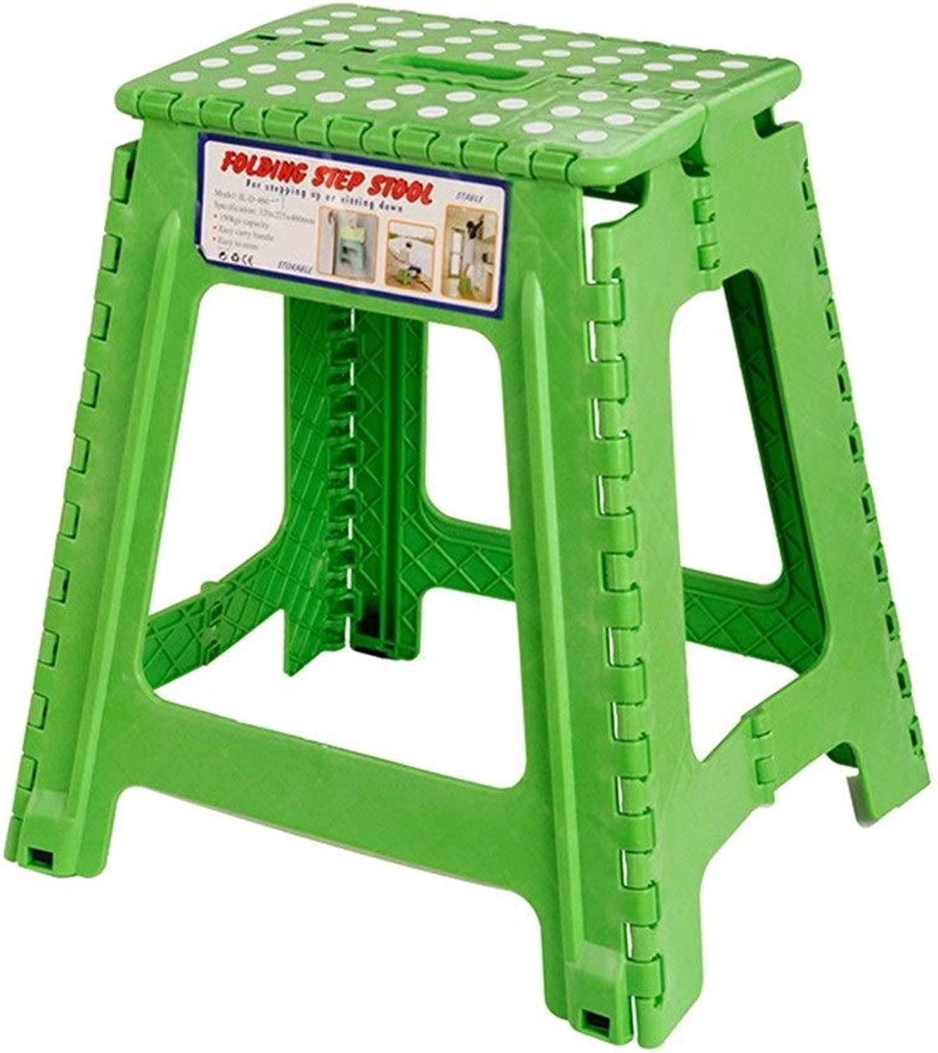 JKPA - Chairs Folding Step Stool Multi Purpose Plastic Home Kitchen Foldable Easy Storage Small Stepstool Portable Stepping Stool ( color   A )