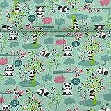 MAGAM-Stoffe Judith Panda Kinderstoff Oeko-Tex Meterware