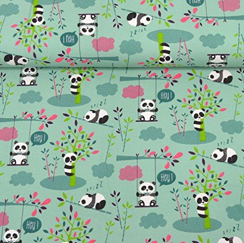 MAGAM-Stoffe Judith Panda Kinderstoff Oeko-Tex Meterware 50cm (Jersey)