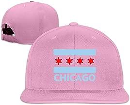 BQL34AA Chicago City Flag Men/Women Baseball Caps, Unisex Flat Bill Snapback Hats