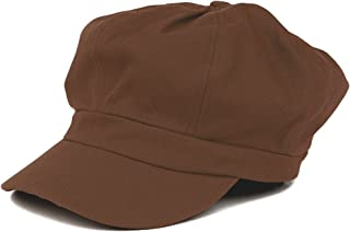 01cd758f Women's Lightweight 100% Cotton Soft Fit Newsboy Cap with Elastic Back