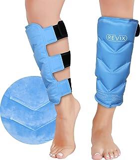 بسته یخی بسته ضایعات REVIX Shin Splint برای جراحات بسته بندی بسته بسته بندی سرد پا ژل برای جراحی پس از جراحی Rehab ، عضله ساق پا کشیده ، آسیب استخوان شین ، حمایت از تسکین درد پا ساق پا و شاین