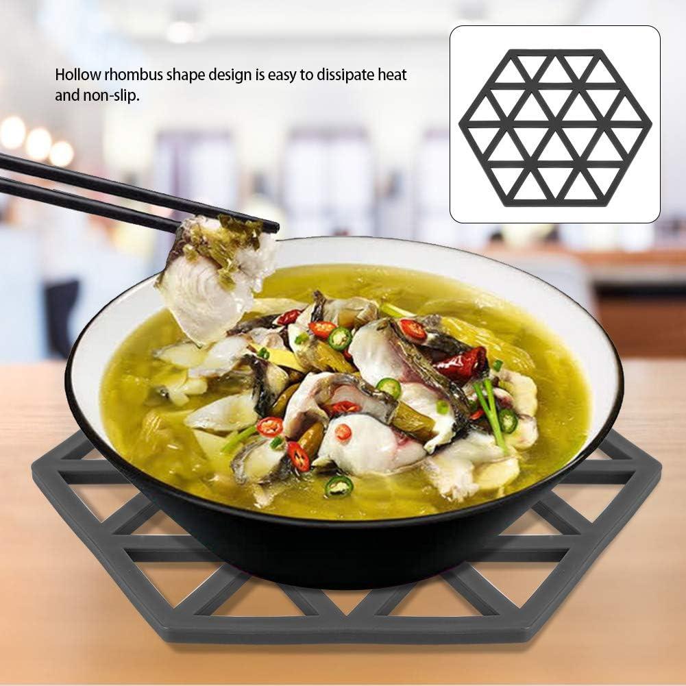 Multifonctionnel Losange Creux Isolation Thermique R/ésistant Antid/érapant Tapis De Table Tapis D/écoratif Cuisine Moderne Table Dessous De Plat 2#