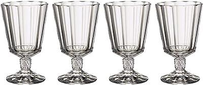 Villeroy & Boch 11-3789-8110 Opera Opéra Red Wine Goblets, Set of 4, 285 ml, Crystal Glass, Clear