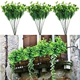 JUSTDOLIFE Artificial Plant DIY Four Leaf Clover Artificial Greenery Fake Plant for Home 3PC (Green-3PCS)