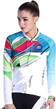 SonMo Damen Fahrrad Trikot Sportbekleidung Reitanzug Fahrradanzug Mountain Biking Anzug Fahrradkleidung Radtrikot Jersey Fahrradshirts Sportjacke Langarm Frühling und Herbst Grün Blau M