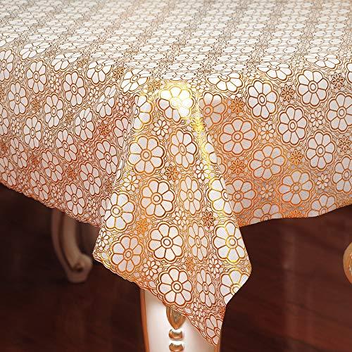 YOUYUANF Wachstuch Tischdecke, waschbare Gartentischdecke, Wachstischdecke, PVC Kunststofftischdecke, wasserdicht und abwischbar137x200 cm