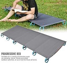 Tentock BRS Cama Plegable de Aluminio Al Aire Libre Cama de Camping para Barbacoa Comida Campestre