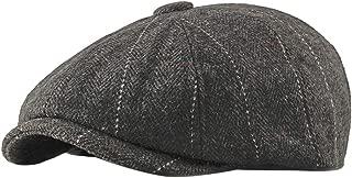 BESBOMIG Newsboy Flat Cap Tweed Lightweight Cap Herringbone Beretta Cap Ivy Dad Irish Caps Traditional Solid Hats 55-60cm
