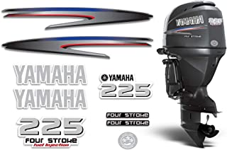 AMR Racing Outboard Engine Graphics Kit Sticker Decal Compatible with Yamaha 225-4 Stroke