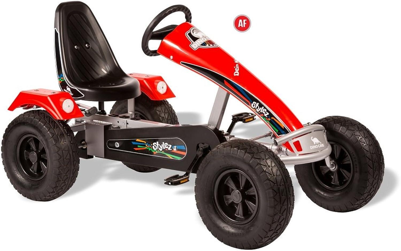 DINO CARS Stylez Go Kart Breitreifen (Silber Rot)