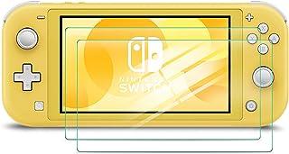 IVSO Nintendo Switch Lite ガラスフィルム 【2枚セット】 2019 任天堂 スイッチ ニンテンドー Lite 液晶保護フィルム 任天堂 Switch Lite ガラス フィルム 0.25D 日本製素材旭硝子製 9H高硬度 高精細 超薄型 飛散防止 98%高透過率 気泡ゼロ 指紋防止 耐久性 初期不良対応