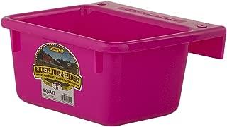 Little Giant 6-Quart Dura-Flex Plastic Feeder, Mini, Hot Pink