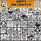 JoyTplay 32Pcs Plantillas de Halloween, Plantillas de Pintura de Dibujo, Conjuntos de Plantillas de...