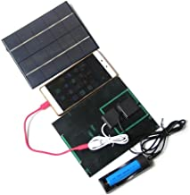 Maelu 3.5W 5V Solar Panel kit Charger DIY with USB Charging for iPhone, iPad Mini, Samsung Galaxy, HTC, Tablets, 18650 Battery (2 Pack)