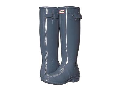 Hunter Original Tall Gloss Rain Boots (Gull Grey) Women
