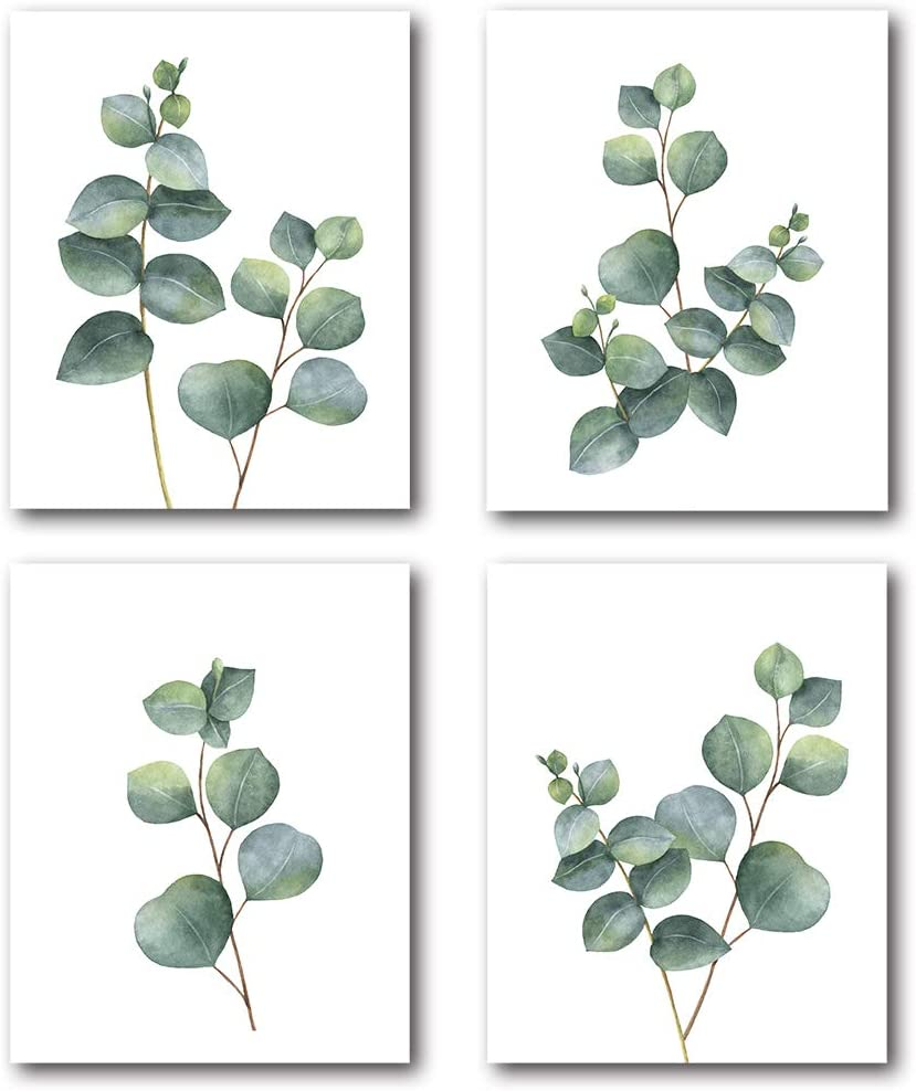 Sale XUWELL Watercolor Max 89% OFF Green Leaves Plant Art Wall Prints Bot Modern