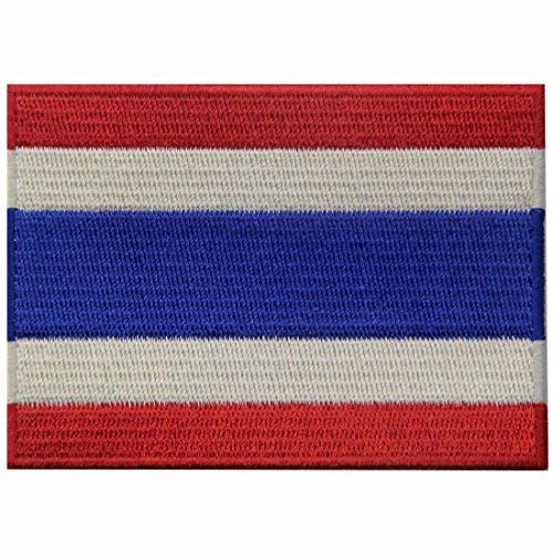Bandera Tailandia Tailandés Parche Bordado Aplicación