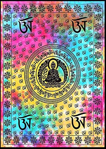 'Blessings from Lord Buddha' Verklaring Ketting Artisan Crafted Gold Plated Messing Geestelijke Feestelijke Sieraden Meditatie Katoen Tapestry Wall Art Poster