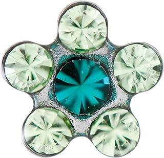 Schmuckanthony Clous doreilles en acier inoxydable avec boules et opales Turquoise