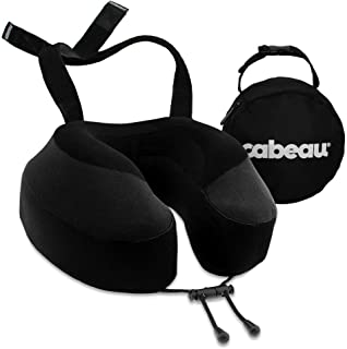 Cabeau Evolution S3 Travel Pillow – Straps to Airplane Seat – Ensures Your Head Won't Fall Forward – Relax with Plush Memo...