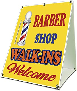 Barbershop Walkins Welcome Sidewalk A Frame 18
