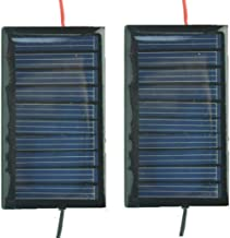 AMX3d 2 PCS -5V 30mA 53X30mm Micro Mini Power Solar Cells for Solar Panels with Wires- DIY Projects - Toys - Solar Charge 3.6v Batteries