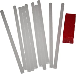 WSD 10 P-Tex PTex Rods Sticks Light and Drip Candle Clear/White Ptex P-tex Ski Snowboard Base Repair Plus Bonus 45 Gram red All Temp Wax