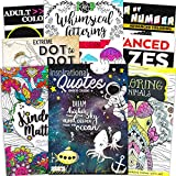 Adult Coloring Book Bundle with 8 Deluxe Coloring Books for Adults and Teens (Over 250 Stress Relieving Patterns).