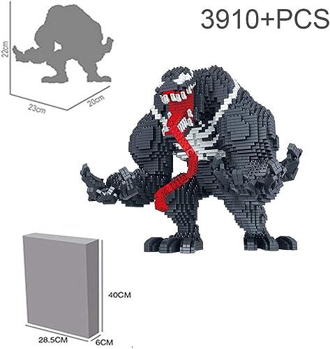 moda HLDX 3910 + pcs pcs pcs Superhero Venom Building Block 9  8.6  7.8 Pulgadas para Salvar el Mundo Peace of Mind Niños y niñas Regaño de cumpleaños  directo de fábrica