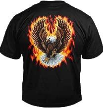 Flaming Eagle Spread Wings Biker T-Shirt Men's Tee (6.1oz)