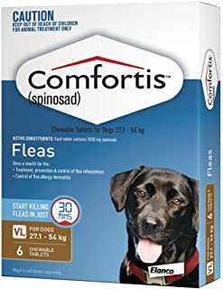 Comfortis Pet Meds Chewable Tablet for Dog, Brown