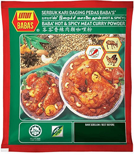 Max 63% OFF Malaysia Best Brand Baba's Hot Mad Spicy new Curry Powder Meat