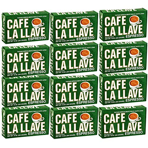 Cafe La Llave 12 packs of 10 oz each & instructions how to make the best Cuban Coffee
