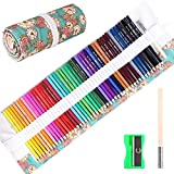 50 Pieces Drawing Colored Pencils Set for Artist with Handmade Canvas Pencil Wrap,GOLP Perfect for Beginners Shading Coloring Art Pencils,Oil based Colored Pencil
