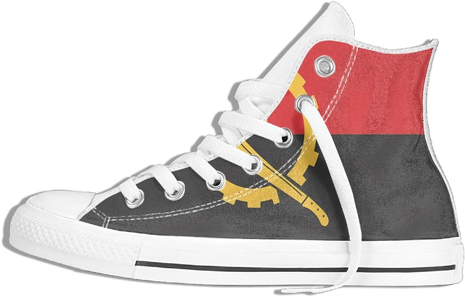 Unisex High Top Sneakers Flag Of Angola Classic Canvas shoes Breathable Sneaker