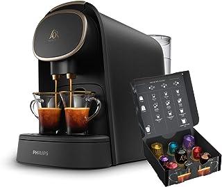 Philips L'OR Barista LM8016/90 - Cafetera compatible con cápsula individual/doble, 19 bares presión, depósito 1L, acabado Premium